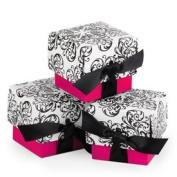 Fuchsia Filigree Ribbon Favour Boxes