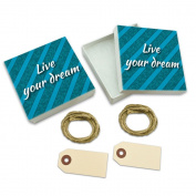 Live Your Dream Life's Too Short White Gift Boxes Set of 2