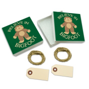 Believe In Bigfoot Sasquatch White Gift Boxes Set of 2