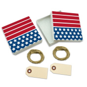 America the Beautiful White Gift Boxes Set of 2