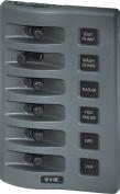 Blue Sea 4307 WeatherDeck® 12V DC Waterproof Switch Panel - 6 Position