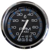 Faria Chesapeake Black SS 10cm Tachometer w/Systemcheck Indicator - 7,000 RPM