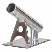 Lee's MX Pro Series Fixed Angle Centre Rigger Holder - 30° - 3.8cm ID - Bright Silver