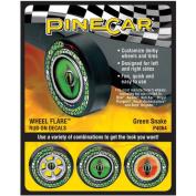 Pine Car Derby Wheel Flare Dry Transfer Decal-Green