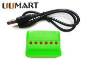 UUMART 6 in 1 X6 Battery Charger for Hubsan X4 H107l H107c H107d Wltoys V977 V930 V202 V252 V939 V933 V955 UDI U816 U816a U830 JXD 385 388 392 Syma X5 X5c Jjrc 1000a 1000b 5000 DFD F180