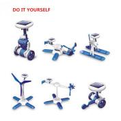 6 IN 1 Solar Toy Educational DIY Robots Plane Kit Children Creative Kid Gift
