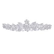 Tinksky Beautiful Wedding Bridal Shining Crystal Rhinestones Crown Tiara Headband Hair Band with Comb