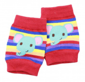 4 Pairs Catoon Toddler Knee And Elbow Pads Crawling Safety Protector Elephant