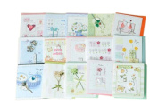Lovely Assortment All Occasion Greeting Cards, Pack Of 15, Random Delivery