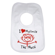 I Love My Uncle This Much Funny Baby Bib