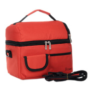 Infant Bottle Tote Bag Baby Keep Milk Fresh Bag Double-Deck Travel Package RED