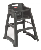 Rubbermaid Sturdy Baby Chair with Feet - Black
