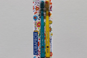 Ultra soft toothbrush, 2 brushes. Curaprox Ultra Soft 5460, Limited Edition, Sign of Love, Peace & Happiness. Softer feeling & better cleaning, in bright & wonderful colours. Featuring a small flower on the bristles of each brush. The ideal gifts for H ..