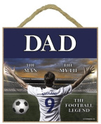 DAD Football Wooden Plaque - Hang it or Stand it on the easel.
