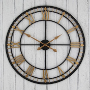 Wall Art Large Round Wall Clock - Bronze And Gold