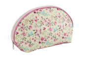 Pretty Ditsy Floral Wash Bag Make Up Case Yellow & Pink Roses
