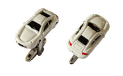 German Sports Car Cufflinks in White