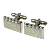 Chelsea FC Official Mens Stainless Steel Football Crest Cufflinks