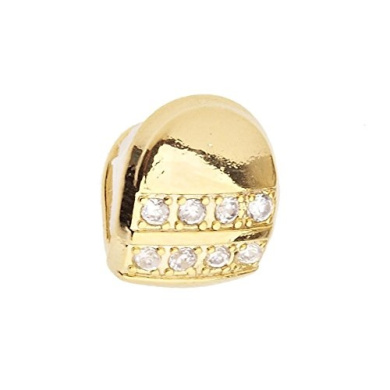Micro Pave Single XL Grill - One size fits all - Gold