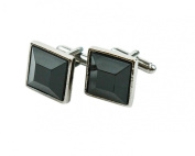 Black Square Shaped Cufflinks Men's Jewellery Cufflinks