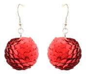 Zest Bauble Christmas Dangly Earrings for Pierced Ears