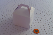 30 x Single Gloss White cupcake boxes cake boxes 80x80x80mm inc inserts/holder