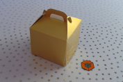 30 x Single Antique GOLD cupcake boxes cake boxes 80x80x80mm inc inserts/holder