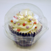 Pack of 100 Clear Domed Cupcake Holders