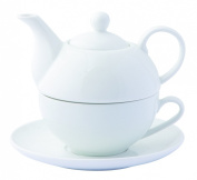 TEA FOR ONE Teapot - Quality White Ceramic Teapot & Cup