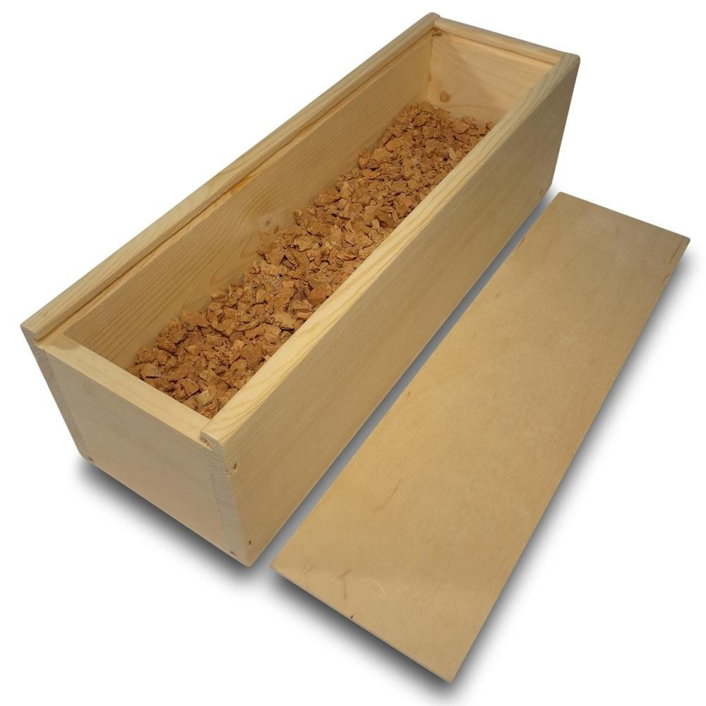 Classic Wooden Wine Box Chest Gift Box Wood 1 Wine Bottle Filled With Cork Grain Plain With Sliding Lid