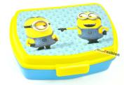 Minions Despicable Me lunch box sandwich box blue yellow