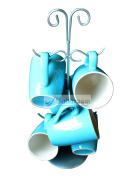 6 Cup Mug Tree - Distinctive Swirl and Swish Design - Babavoom® S6