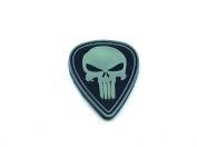 Punisher Teardrop Black Glow In The Dark PVC Airsoft hook and loop Patch