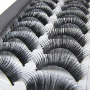 10 Pairs Handmade Long Thick False Eyelashes