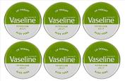 Vaseline Lip Therapy Petroleum Jelly 20g ALOE VERA x 6 Tins