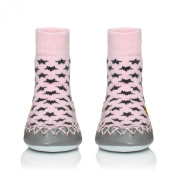 Moccis Cool In Pink Baby - Leather Moccasins Slippers Socks