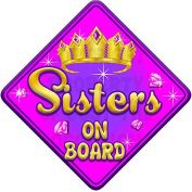 TORQ SISTERS Baby on Board Car Window Sign