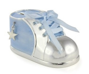 Silver Plated Baby Bootie Money Box