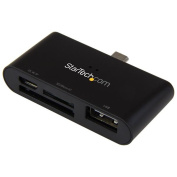 On-the-Go USB Card Reader for Mobile Devices - Supports SD & Micro SD Cards