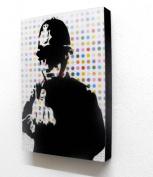 Banksy Rude Copper Graffiti 15cm X 10cm Block Mounted Print