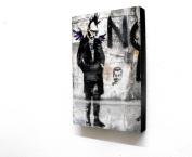 15cm X 10cm (postcard size) Block Mounted Print Banksy Punk Angel Graffiti
