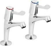 Contract Lever Sink Pillar Taps 2 Pack