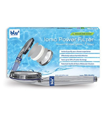 blu Ionic Power Filter - filters heavy metals, chlorine and solid impurities and saves water and energy while redefining the pleasures of your shower experience - the state-of-the-art shower filter and hi-tech shower head all in one!