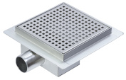 150mm Stainless Steel Square Wetroom Drainage System