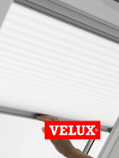 VELUX Pleated Blind for Skylight Roof Window In White 1016