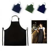 Apron Kitchen Chef Butcher Cooking and Catering Bib - Black Splash Proof