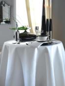 """Kudos Contract Use Plain Circular Table Linen - Tablecloth 224cm (88"""") In White"""