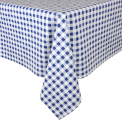 Blue Gingham Wipe Clean PVC Vinyl Tablecloth Table Cover Protector 140x240cm
