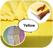 Junior Cot Bed JERSEY Fitted Sheet 160x70cm 100% Cotton - YELLOW