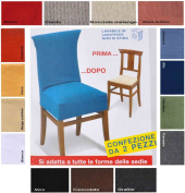 New York Universal Chair cover pair - CENERE - ASH